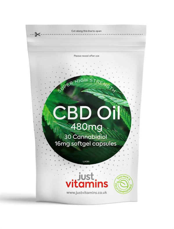 Buy Super Strength CBD Oil (10%) Capsules - 16mg