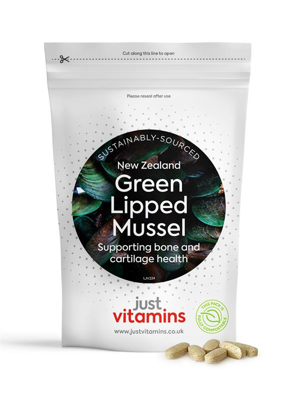 Buy Green Lipped Mussel + Calcium & Vitamin C Tablets - 500mg