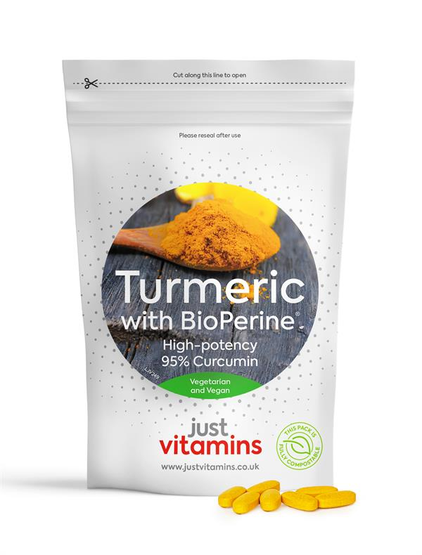 Buy Turmeric with BioPerine® (Black Pepper Extract) Tablets - 10,000mg