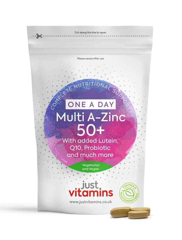 Buy Multivitamins A-Zinc 50+ Tablets