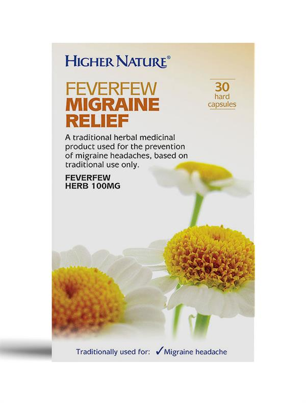 Buy Feverfew Migraine Relief two-piece capsule - 100mg